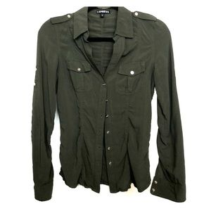Military inspired button down blouse.
